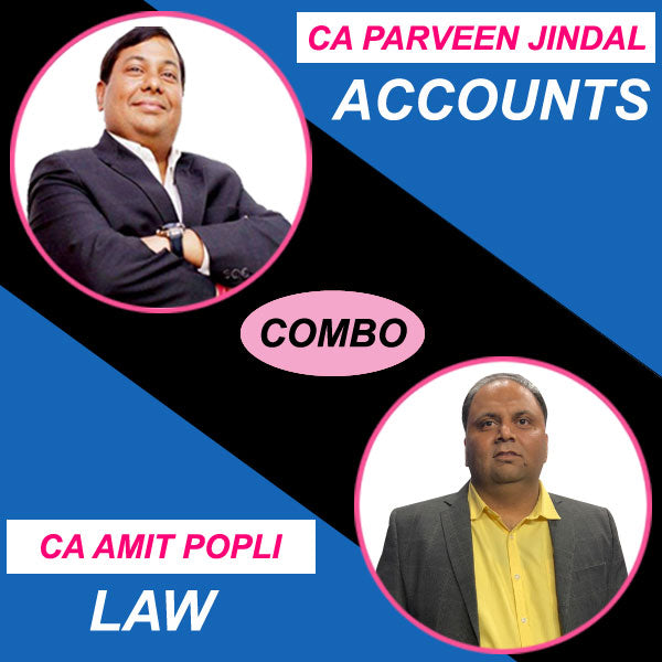 CA Inter Accounts + Law Combo Regular Full Course by Parveen Jindal & Amit Popli