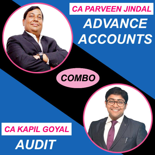 CA Inter Advance Accounts + Audit Combo Regular Full Course by Parveen Jindal & Kapil Goyal