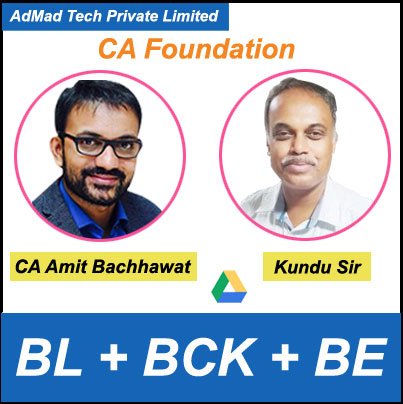 CA Foundation Business Laws + BCK + Business Economics Full Course by CA Amit Bachhawat & Kundu Sir