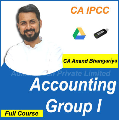 CA IPCC Accounting Group I Full Old Course by CA Anand Bhangariya