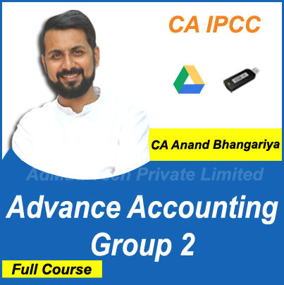 CA IPCC Advance Accounting Group 2 Full Old Course by CA Anand Bhangariya