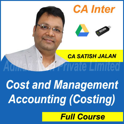 CA Inter Cost and Management Accounting (Costing) Full Course by Satish Jalan