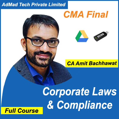 CMA Final Corporate Laws & Compliance Full Course by Amit Bachhawat