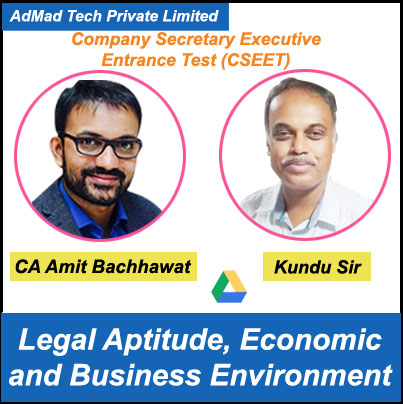 CSEET Legal Aptitude, Economic and Business Environment Combo by CA Amit Bachhawat and Kundu Sir