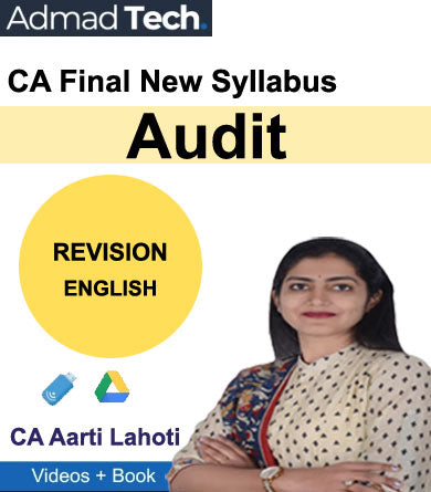 CA Final Audit Revision New Syllabus by CA Aarti Lahoti