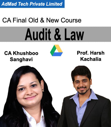 CA Final Audit & Law Combo Old & New Fast Track Course by Khushboo Sanghavi & Harsh Kachalia