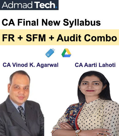 CA Final FR and SFM and Audit Full New Syllabus Combo by CA Vinod Kumar Agarwal and CA Aarti Lahoti