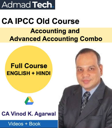 CA IPCC Accounting and Advanced Accounting Combo Full Old Course by Vinod Kumar Agarwal
