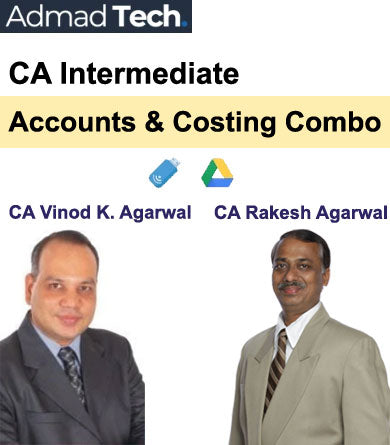 CA Intermediate Accounts & Costing Combo Full Course by Vinod Kumar Agarwal and Rakesh Agarwal