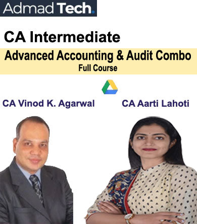 CA Inter Advanced Accounting and Audit Combo Full Course by Vinod Kumar Agarwal and Aarti Lahoti