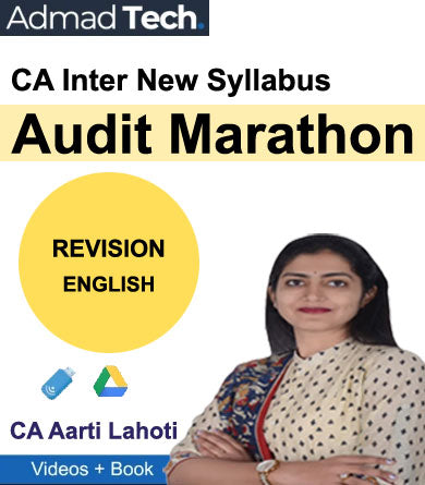 CA Inter Audit Marathon Revision New Syllabus by CA Aarti Lahoti