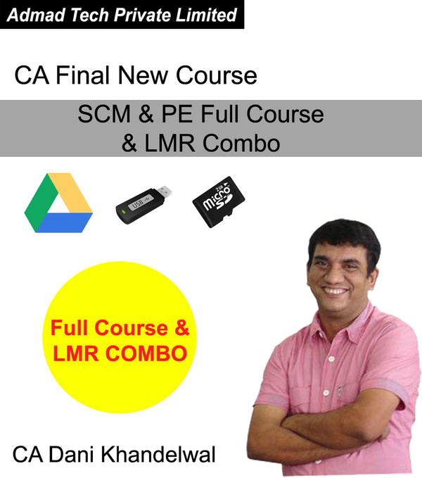 CA Final New Course SCM & PE Full Course & LMR Combo by CA Dani Khandelwal