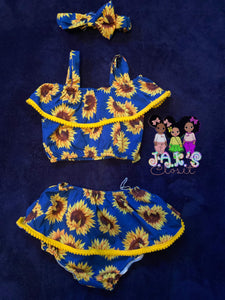 3pc Sunflower Set