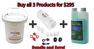 The Simple one & 5 Gallon Waste Recycling Kit & Vacuum System Cleaner Eco Vac 1 Pint Bottle