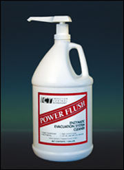 "PowerFlush 1 gallon bottle (Concentrated ""Enzymatic"" Evacuation System Cleaning Solution)"