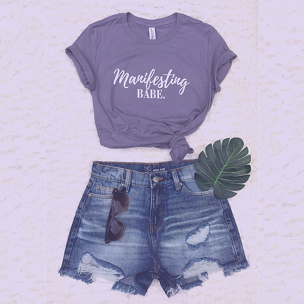 Manifesting Babe Period! Slim fit T-Shirt