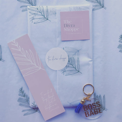 Boss Babe Daily Planner + Affirmation Key Chain Bundle