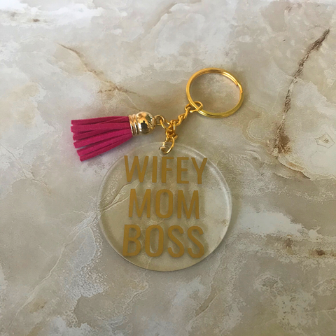 Wifey Mom Boss | Key Chain