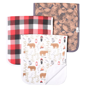 Lumberjack Burp Cloth Set
