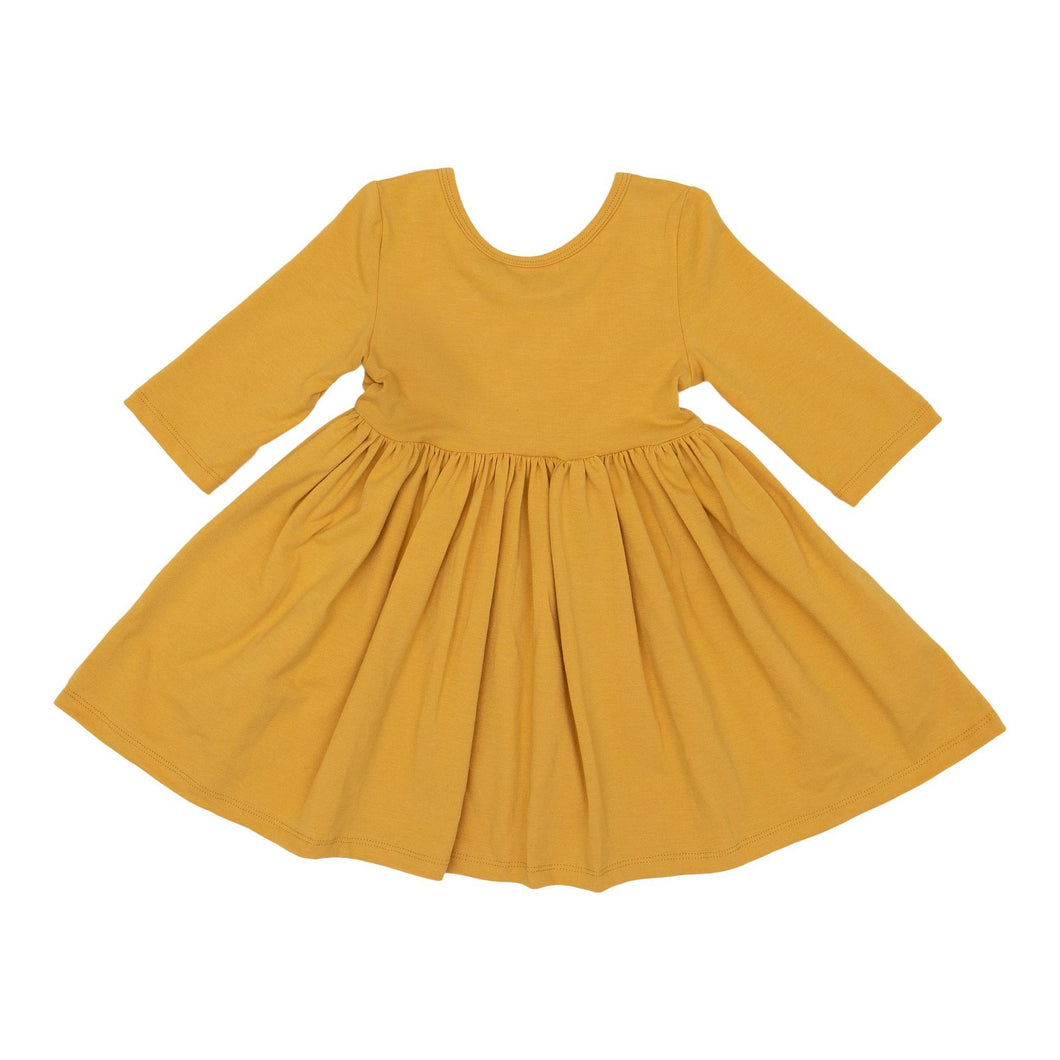 Mustard Twirl Dress