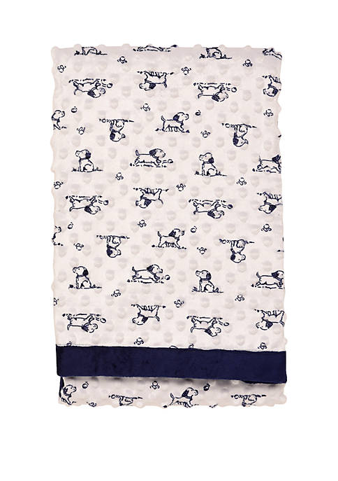 Little Me Reversible 30x40 Puppy Blanket