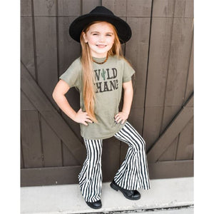 Black/White Stripe Bell Bottoms