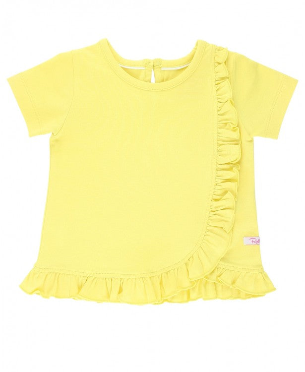 Lemon Ruffle Detail Top