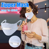 Washable Protective Mask Men & Women Reusable Zipper Mask