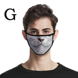 Funny Animal Printed Breathable Reusable Mask Filter PM2.5