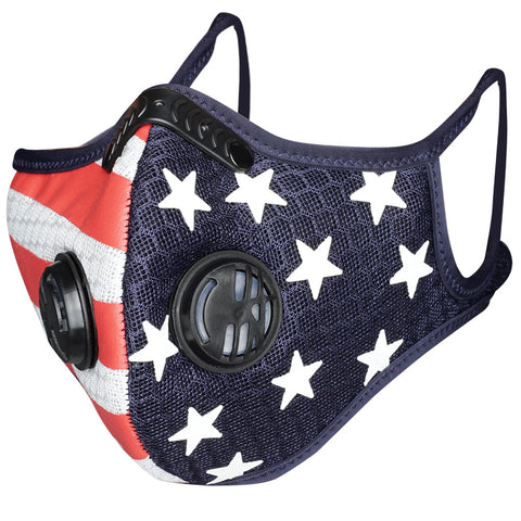 Unisex Flag Print America Face Mask Outdoor Mouth Mask