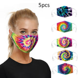 5 pieces Face Masks  For Dust Protection Washable Reusable