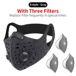 N95 Antiviral Sport Face Mask With Filter Activated Carbon