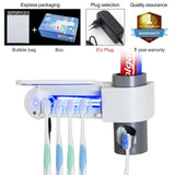 Antibacteria 2 in 1 UV Light Ultraviolet Toothbrush with Automatic Toothpaste Dispenser