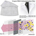 Women Cotton PM 2.5  mouth Mask anti dust mask Activated carbon filter