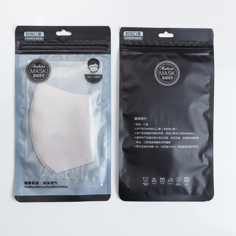 2pcs Black Mouth Mask Breathable Unisex Sponge Face Mask Reusable