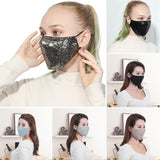Breathable Fashion Sequin  Anti Haze Dust Cotton Protective Face Mask