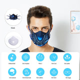 MeHow KN95 Mask 6 Layer 95% Filtration Mouth Face Mask 2 Filter Respirator