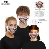 VIP FASHION New Funny Adult Kids 3D Printed Face Mask
