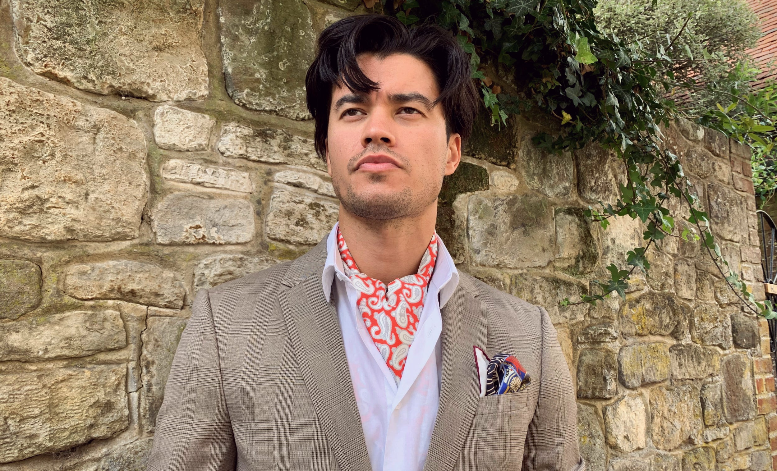 Andres red paisley cravat