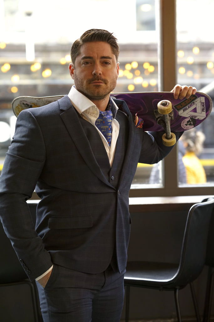 Cravat Club Suit Model Skateboard Lockdown