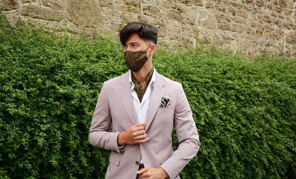 Into the Wild Leopard Print Silk Face Mask and Cravat