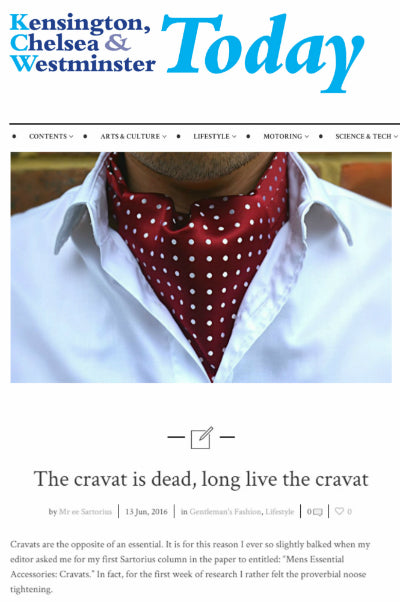 kensington and chelsea and westminster today cravat club