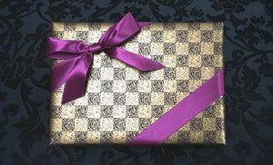 Brown & Gold Gift Wrap