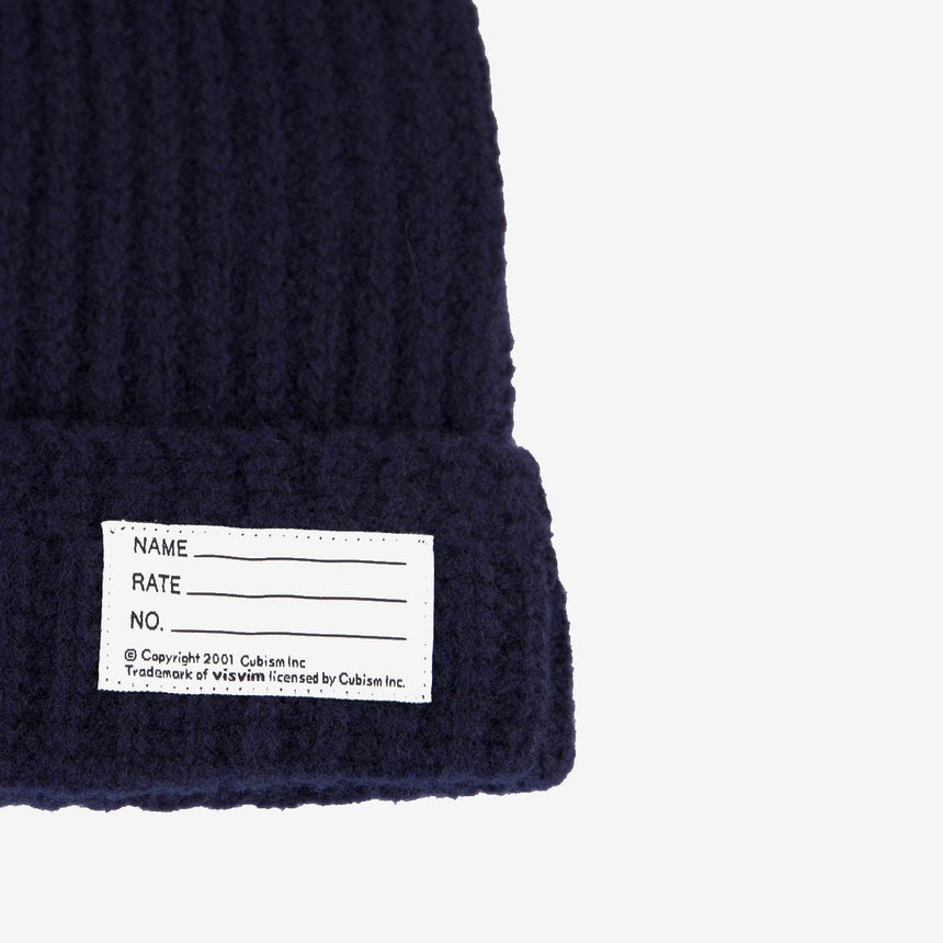 Visvim Knit Beanie Wool Navy