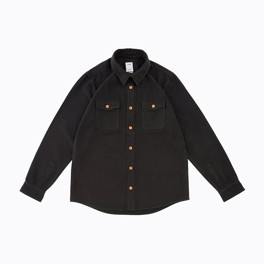 VISVIM BLACK ELK FLANNEL BLACK