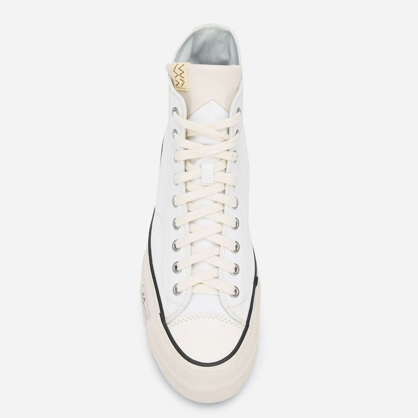 Visvim Skagway Hi Canvas Patten White