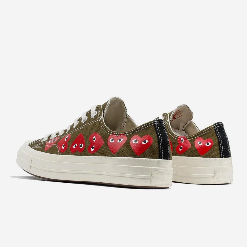 Comme des Garçons Play X Converse Chuck 70 Low Multi Heart Fir Green