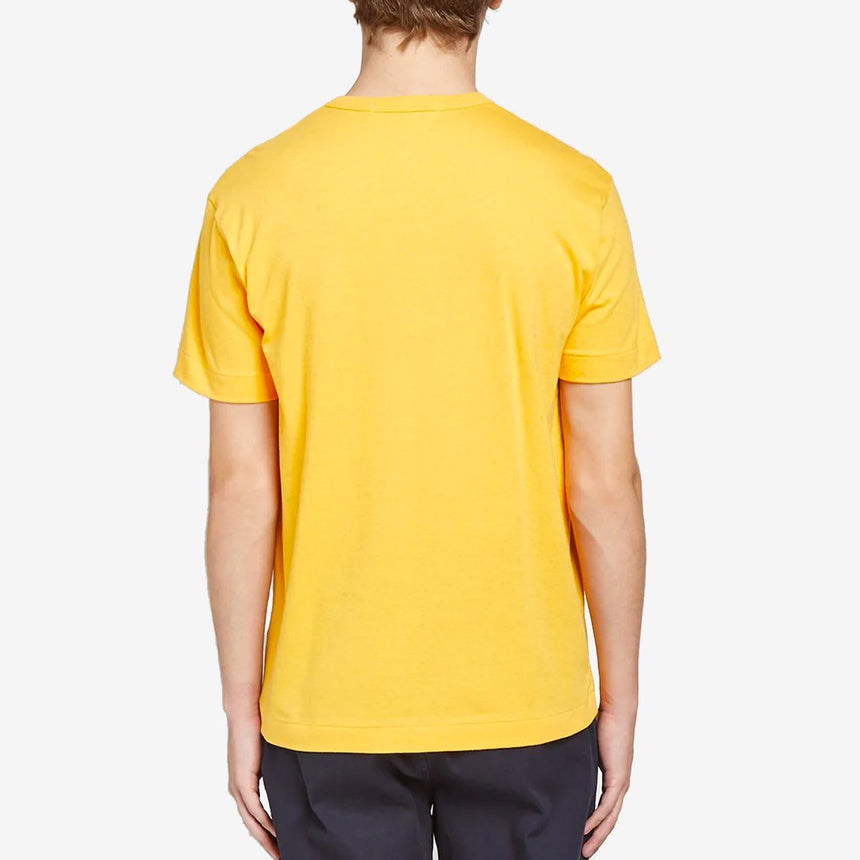 Comme des Garçons Play Colour Series T-Shirt Red Heart Yellow