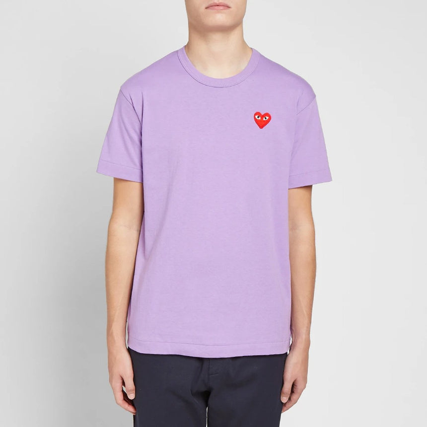 Comme des Garçons Play Colour Series T-Shirt Red Heart Purple