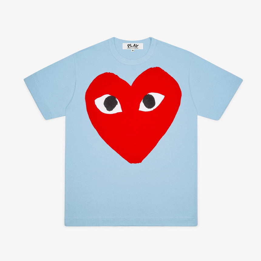 Comme des Garcons Play Big Red Heart T-Shirt Blue